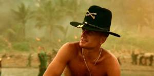 He loves the smell of napalm in the morning. And surfing. Charlie don't surf, though.