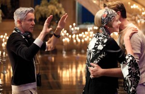 Director Baz Luhrmann with Leo and Carey Mulligan