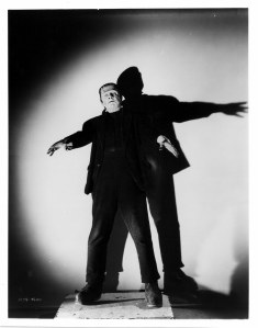 "Lugosi as Frankenstein in the now famous ""arms outstretched"" pose that they all use but don't know why"
