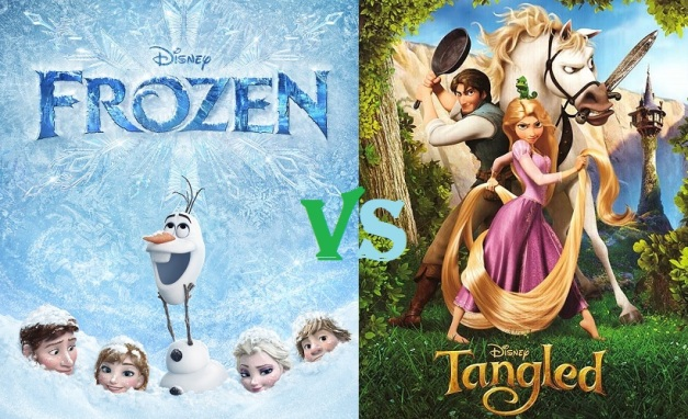 Frozen v Tangled Cover
