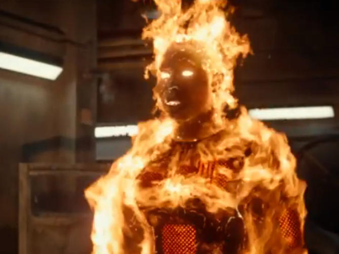 Marvel reveals five hot new posters of the Fantastic Four ... |Fantastic Four 2015 Human Torch